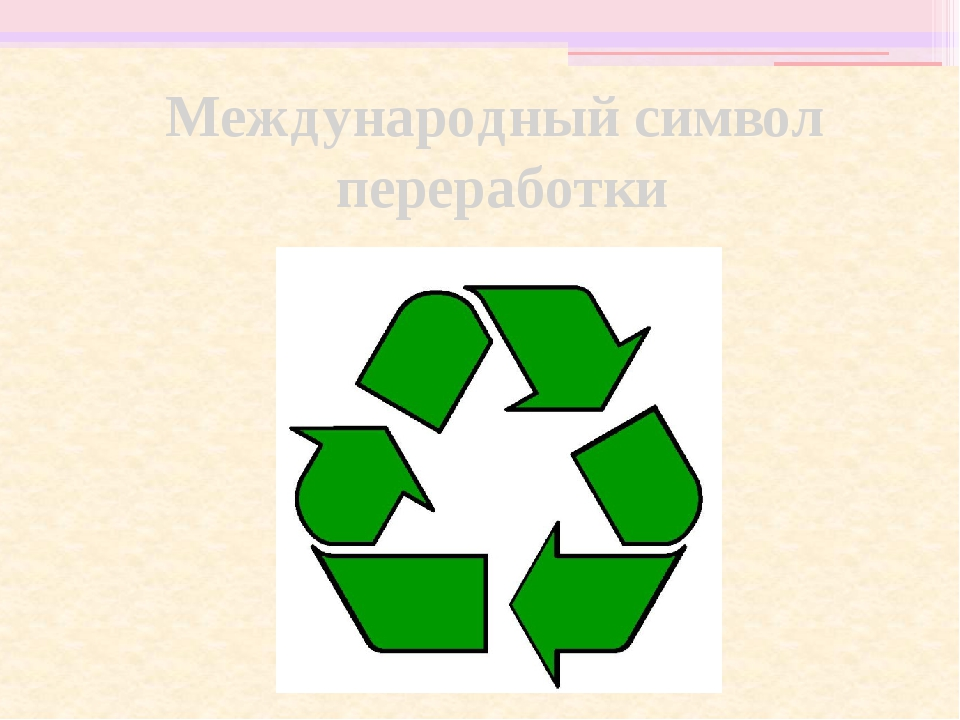 Международный символ переработки