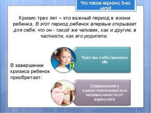 Кризис трех лет – это важный период в жизни ребенка. В этот период ребенок вп