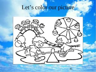 Let's color our picture