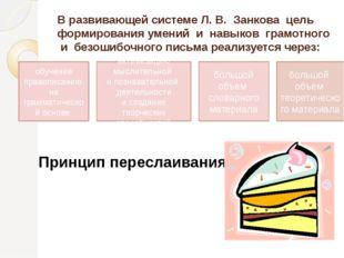 В развивающей системе Л. В. Занкова цель формирования умений и навыков грамот