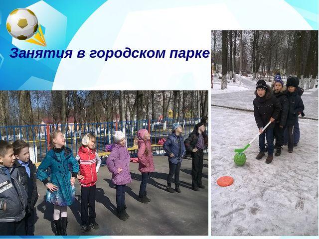 Занятия в городском парке