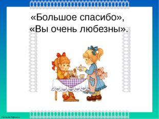 «Большое спасибо», «Вы очень любезны». FokinaLida.75@mail.ru