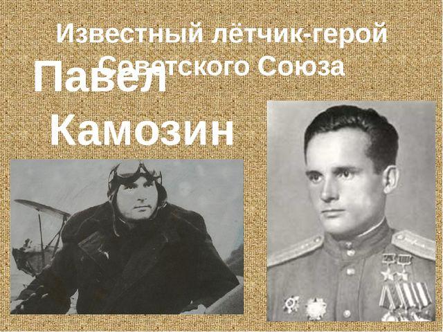 Известный лётчик-герой Советского Союза Павел Камозин