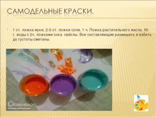 1 ст. ложка муки, 2-3 ст. ложки соли, 1 ч. Ложка растительного масла, 50 г. в