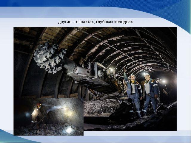 другие – в шахтах, глубоких колодцах