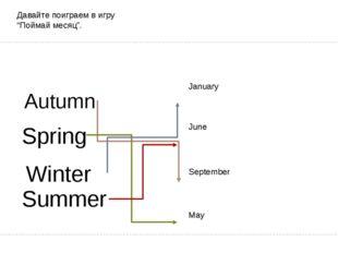 "Давайте поиграем в игру ""Поймай месяц"". January September June May Spring S"