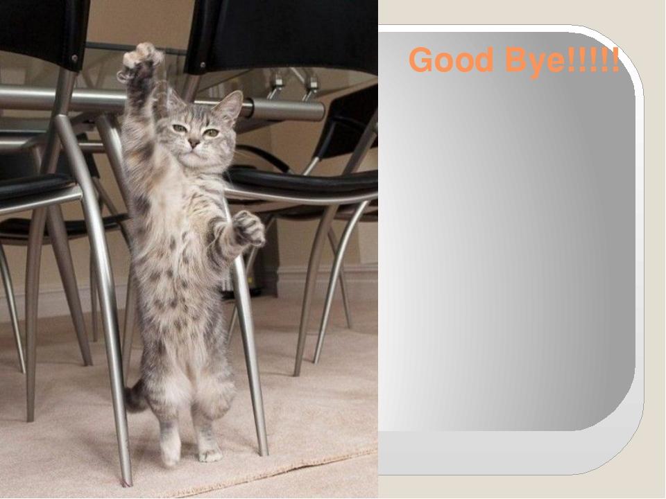 Good Bye!!!!!