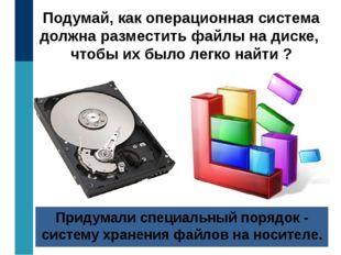 Подумай, как операционная система должна разместить файлы на диске, чтобы их
