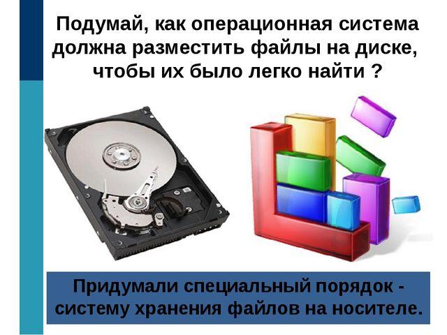 Подумай, как операционная система должна разместить файлы на диске, чтобы их...