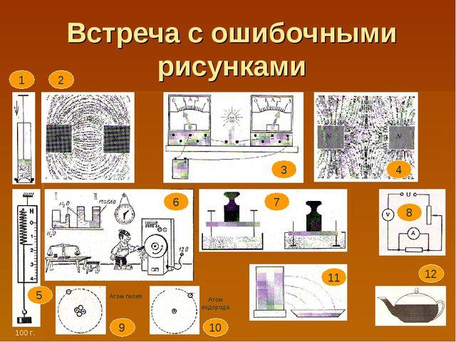 Встреча с ошибочными рисунками Атом гелия Атом водорода 1 2 3 4 5 6 7 8 9 10...