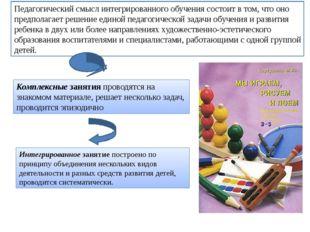 Педагогический смысл интегрированного обучения состоит в том, что оно предпол