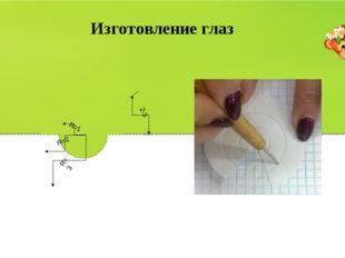 Изготовление глаз R=3 R=1 R=2 2-3