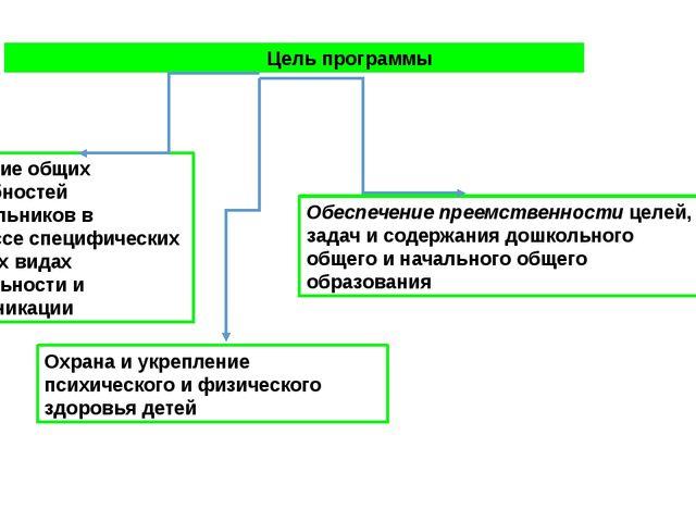 Цель программы Развитие общих способностей дошкольников в процессе специфиче...