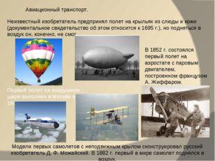 Неизвестный изобретатель предпринял полет на крыльях из слюды и кожи (докумен