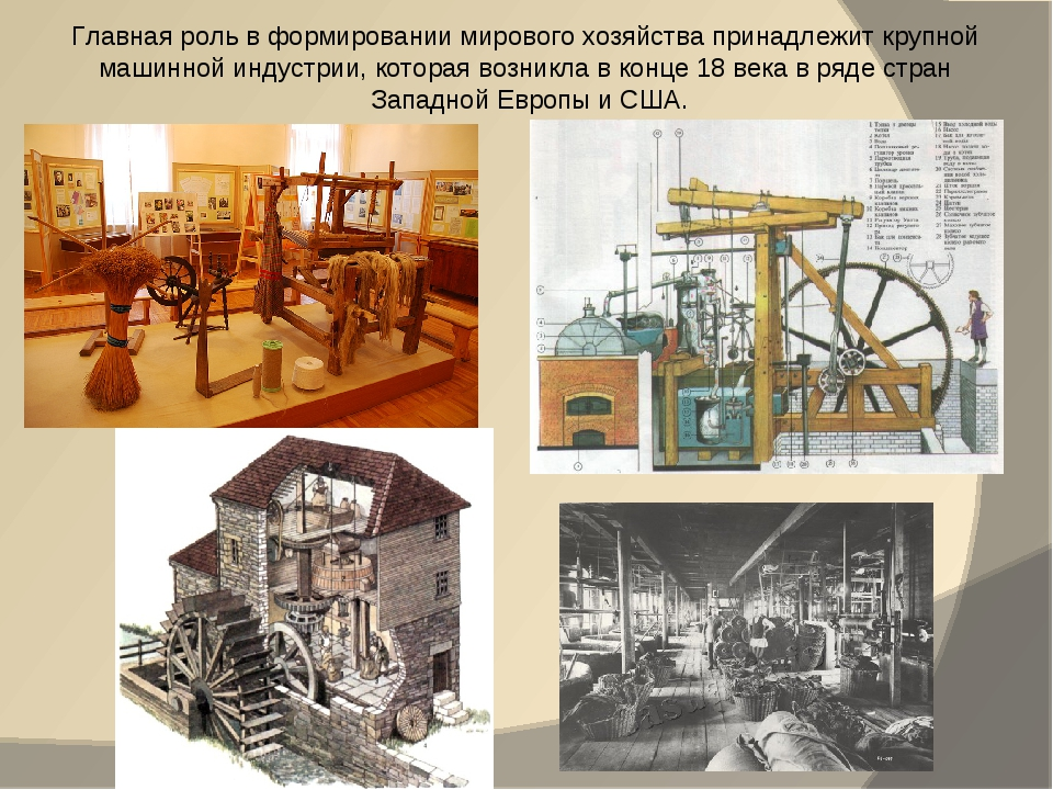 Главная роль в формировании мирового хозяйства принадлежит крупной машинной и...