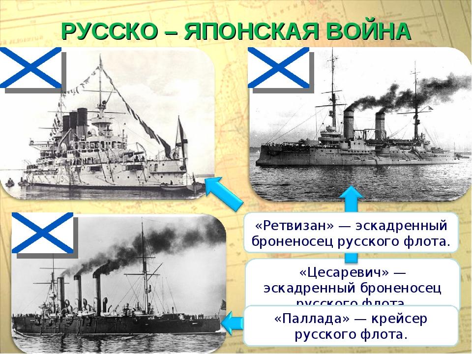 РУССКО – ЯПОНСКАЯ ВОЙНА «Цесаревич» — эскадренный броненосец русского флота....