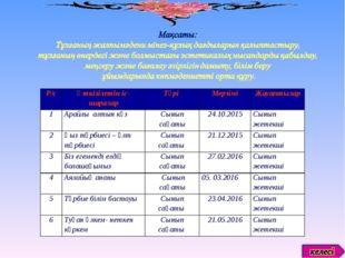 Р/сӨткізілетін іс-шараларТүрі МерзіміЖауаптылар 1Арайлы алтын күзСынып