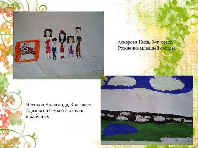 Аскерова Ниса, 3-ж класс. Рождение младшей сестры. Несинов Александр, 3-ж кла...