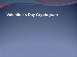 Valentine's Day Cryptogram