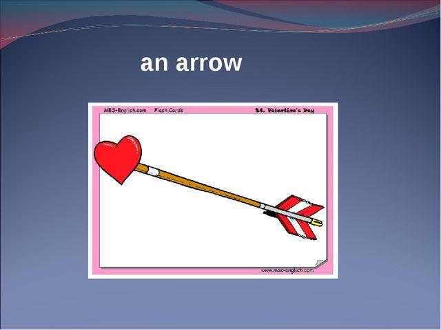 an arrow