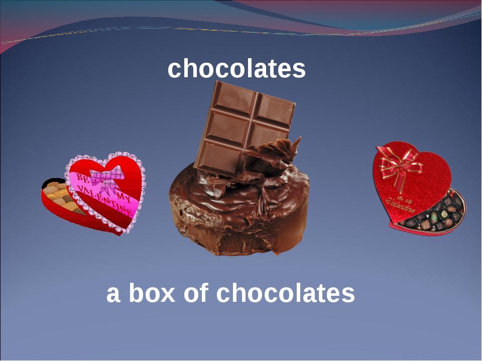 chocolates a box of chocolates