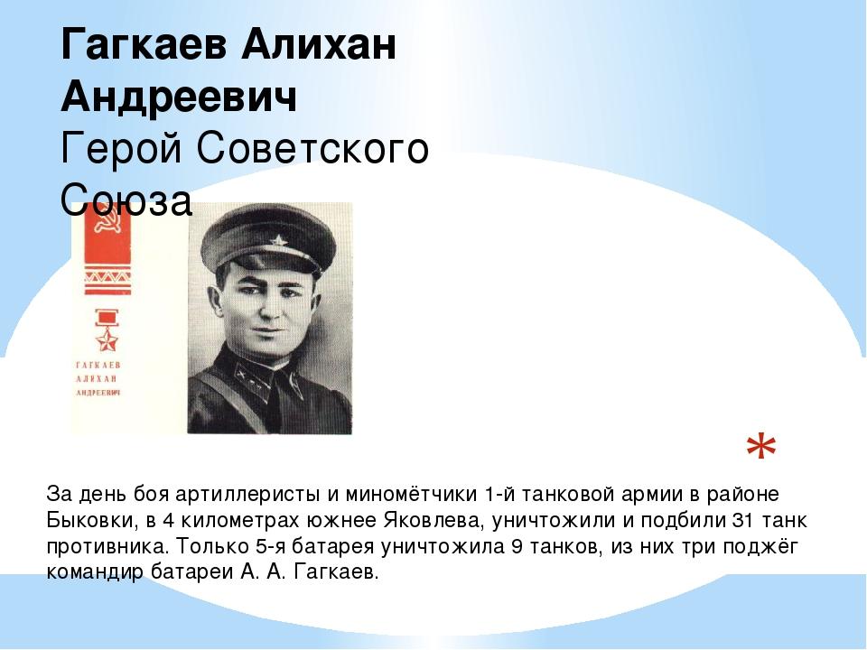 За день боя артиллеристы и миномётчики 1-й танковой армии в районе Быковки...