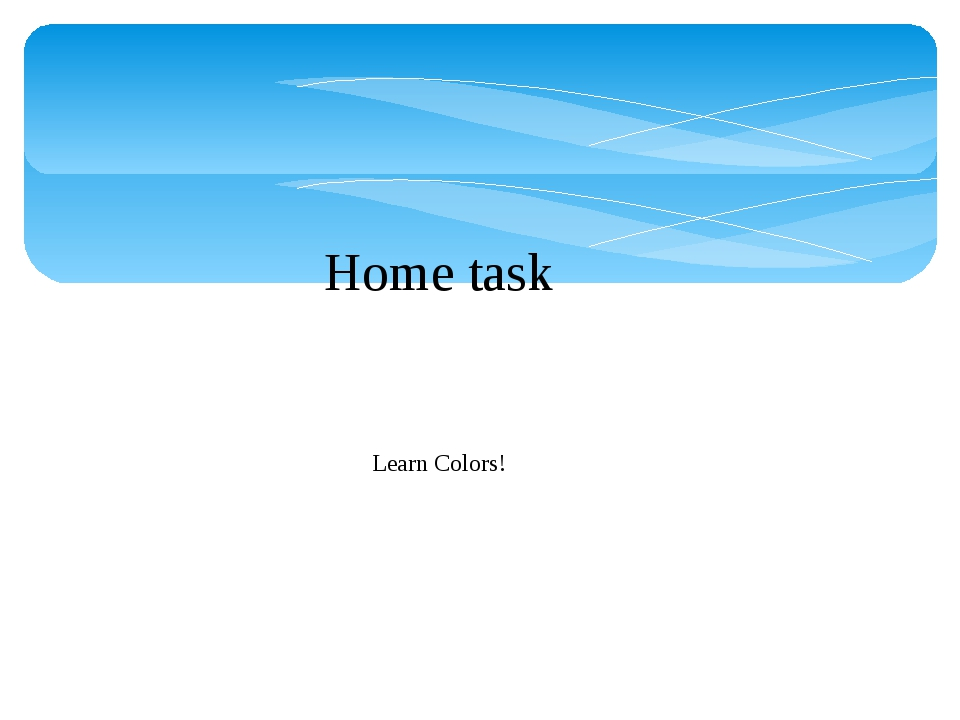 Home task Learn Colors!