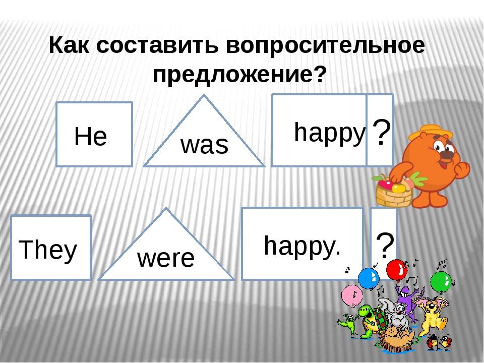 He They was were happy. happy. ? ? Как составить вопросительное предложение?