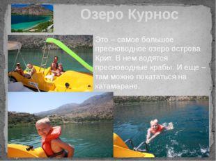 Озеро Курнос Это – самое большое пресноводное озеро острова Крит. В нем водят