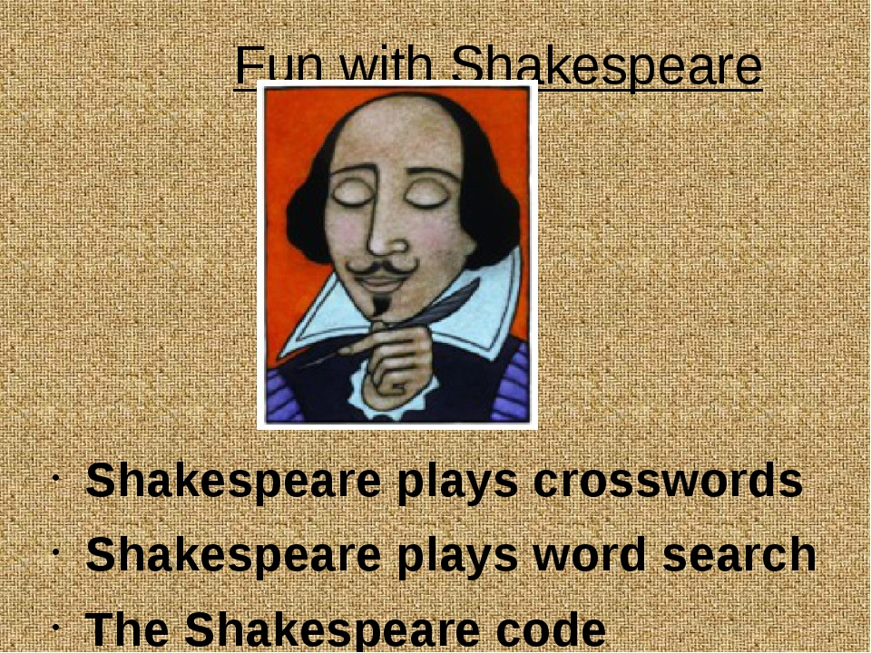 Fun with Shakespeare Shakespeare plays crosswords Shakespeare plays word sea...