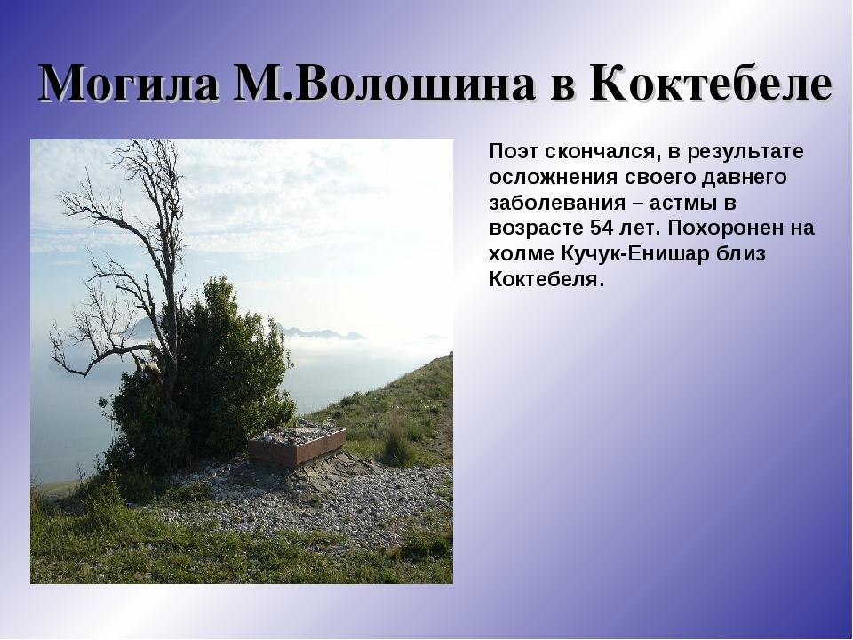 крымские стихи волошина елочные