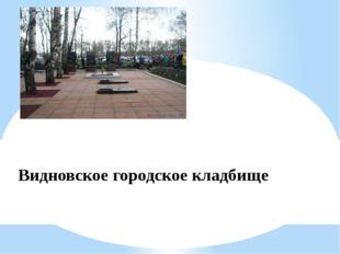 Видновское городское кладбище