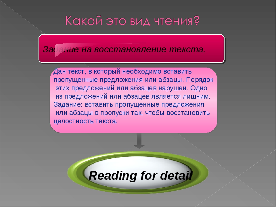 Reading for detail