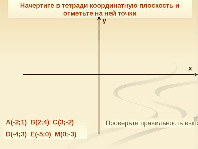 Начертите в тетради координатную плоскость и отметьте на ней точки A(-2;1) B(...