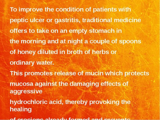 To improve the condition of patients with peptic ulcer or gastritis, traditio...