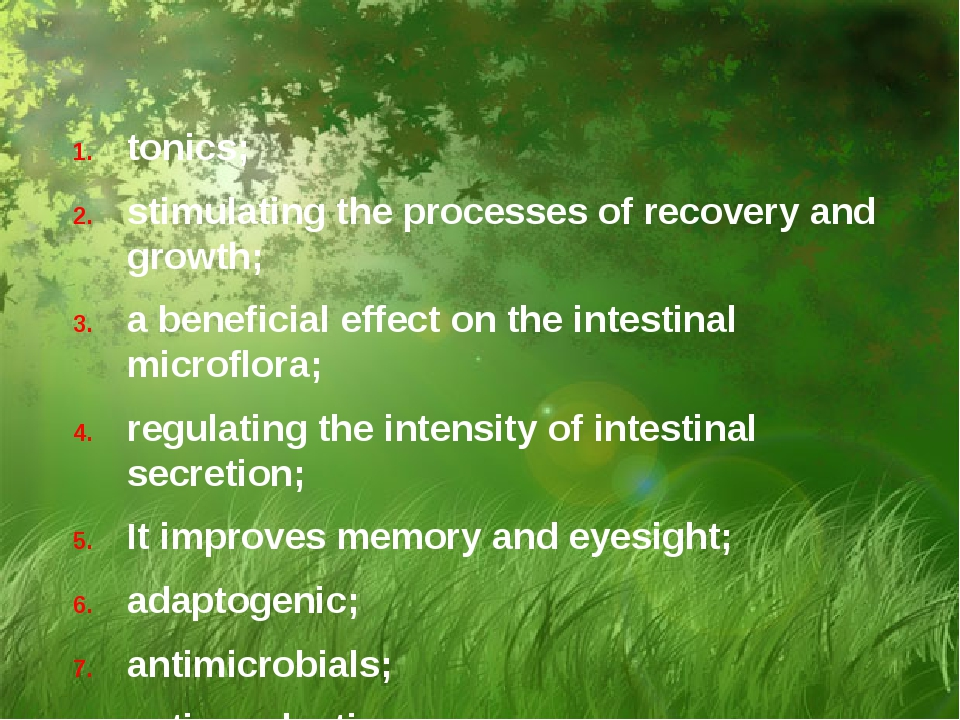 tonics; stimulating the processes of recovery and growth; a beneficial effect...