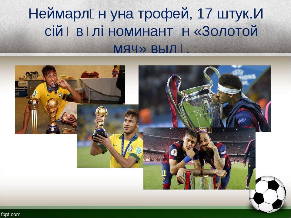 Неймарлӧн уна трофей, 17 штук.И сійӧ вӧлі номинантӧн «Золотой мяч» вылӧ.