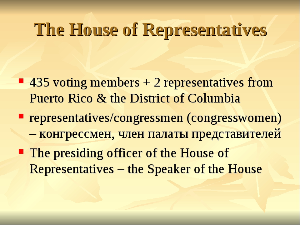 The House of Representatives 435 voting members + 2 representatives from Puer...