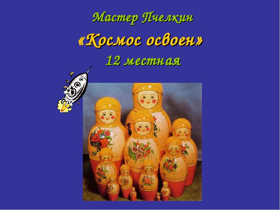 Мастер Пчелкин «Космос освоен» 12 местная