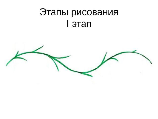 Этапы рисования I этап