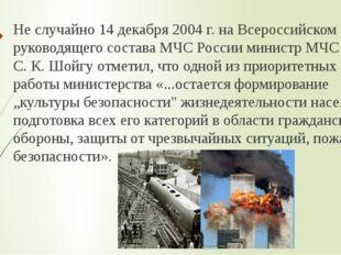 Не случайно 14 декабря 2004 г. на Всероссийском сборе руководящего состава МЧ