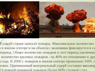 Большой ущерб стране наносят пожары. Максимальное количество пожаров в жилом