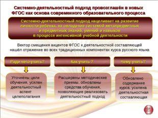 Системно-деятельностный подход провозглашён в новых ФГОС как основа современн