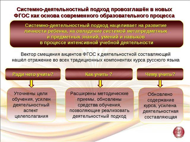 Системно-деятельностный подход провозглашён в новых ФГОС как основа современн...