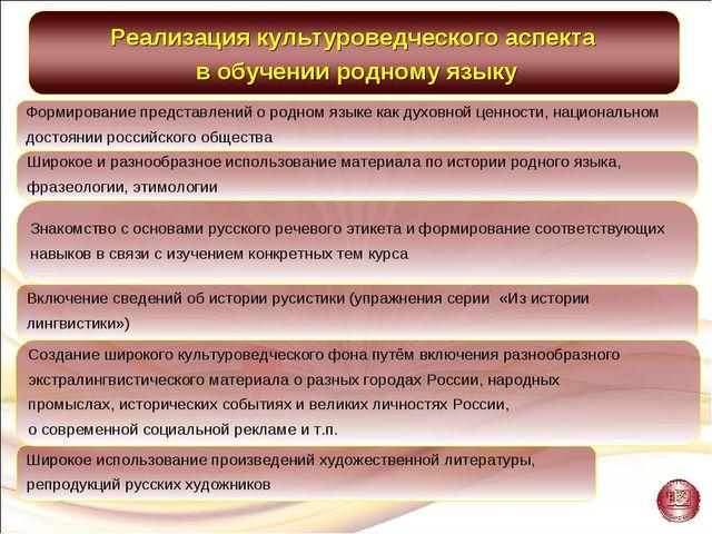 Широкое использование произведений художественной литературы, репродукций рус...