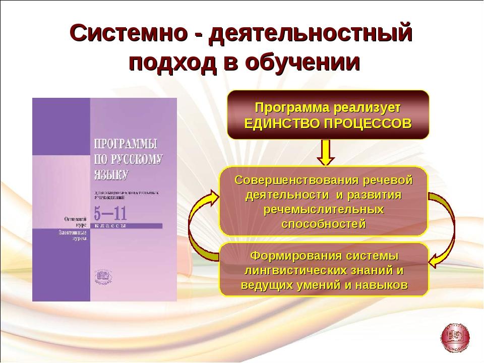 Совершенствования речевой деятельности и развития речемыслительных способност...