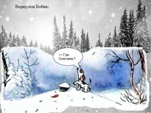 Вернулся Бобик: — Где Снеговик?