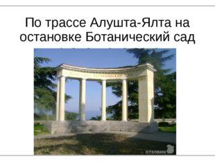 По трассе Алушта-Ялта на остановке Ботанический сад установлена арка.