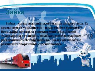 Зайка Зайка – самая активная жительница зимнего леса. Ее друзья всегда удивл