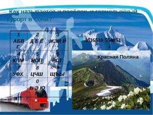 Как называется и посёлок, и горнолыжный курорт в Сочи? 4616510 554051 1 АБВГ